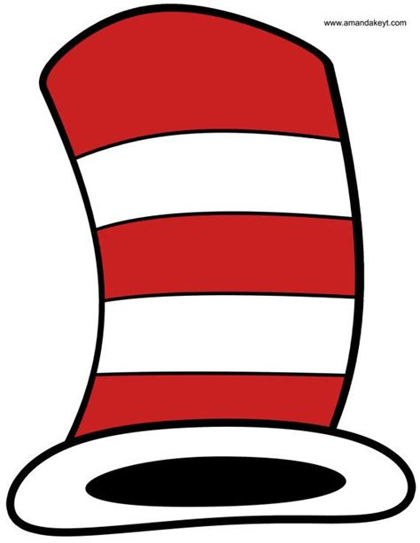 dr seuss hat template free instant dr suess inspired cat in by
