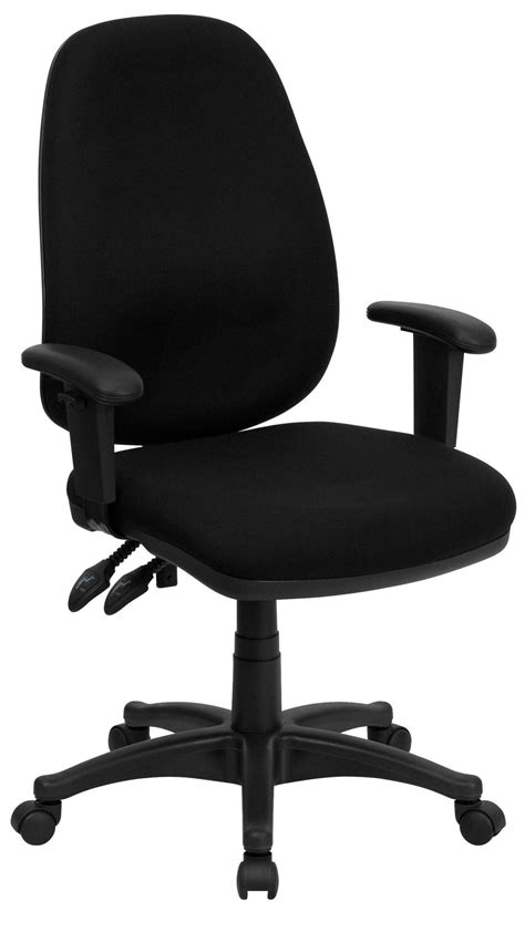 Ergonomic Arm Chair by High Back Black Ergonomic Computer Arm Chair From Renegade