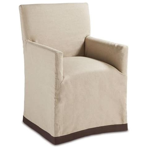 mariel french country natural slipcover dining arm chair