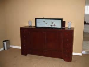 exle 4 custom tv lift media cabinet and dresser