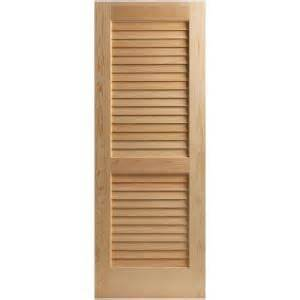 Home Depot Louvered Doors Interior Masonite 24 In X 80 In Plantation Smooth Louver Solid Unfinished Pine Interior Door