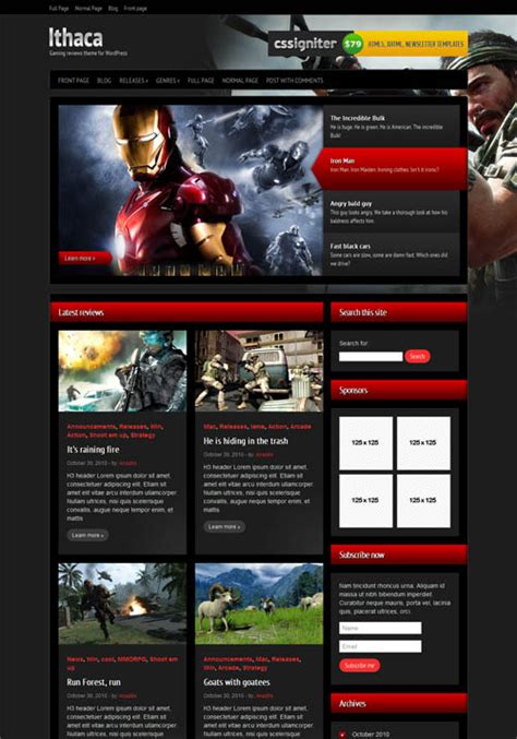 top 10 themes of games 10 best gaming wordpress themes 2018