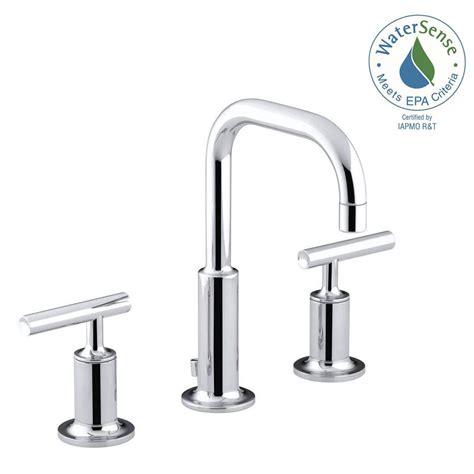 kohler purist 8 in widespread 2 handle low arc water