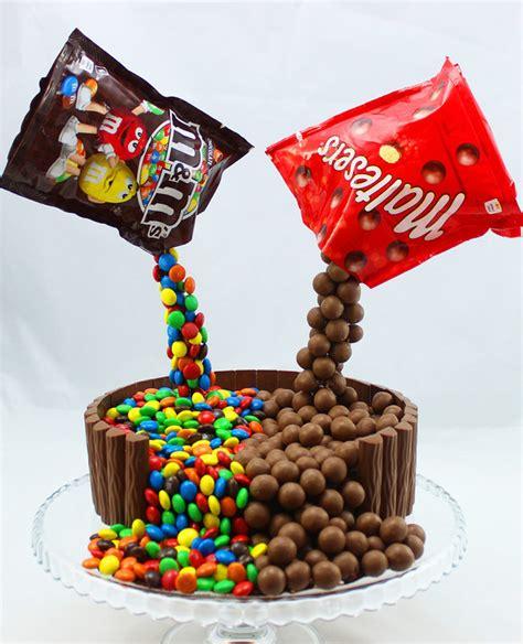 lollipop kuchen illusion cake mit m ms und maltesers