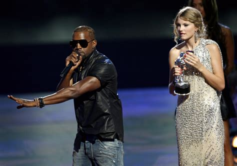 taylor swift awards kanye west kanye west taylor swift feud a history of their on going