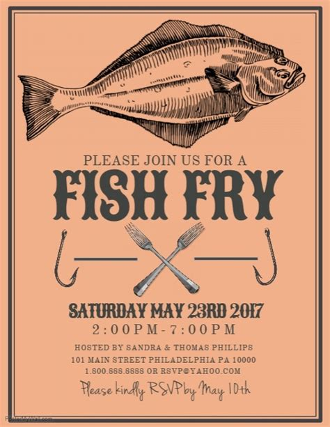 Copy Of Fish Fry Postermywall Fish Fry Menu Template