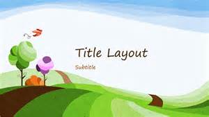 Rainbow themed presentation office templates