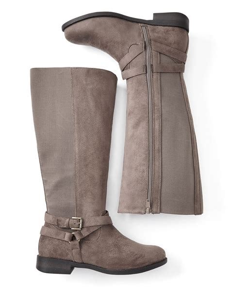 wide width knee high boots with buckle penningtons