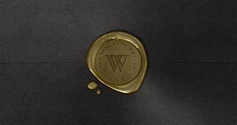 Design Apps Free wax seal logo mock up template vol2 psd mock up