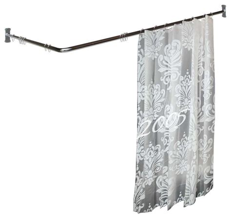 3 sided shower curtain rod shower curtain rods bright chrome 2 sided shower curtain