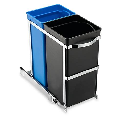 bed bath and beyond simplehuman trash can simplehuman 174 35 liter pull out recycler bed bath beyond