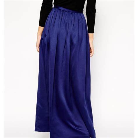 asos blue silk maxi skirt never natalie woods depop