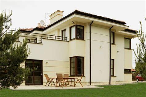 Modernes Haus 5196 by Kremowa Elewacja Okna Dąb Bagienny Czerwona Dach 243 Wka