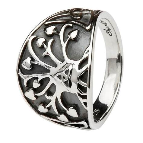 shanore sterling silver tree of knot ring at