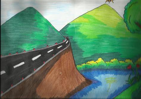 Komik Cantik how to draw pemandangan alam