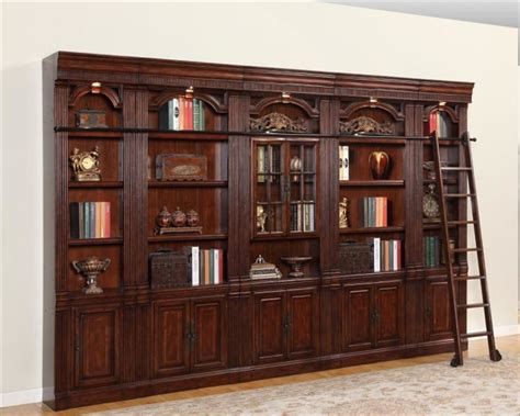 house wellington library bookcase wall set phwel set3