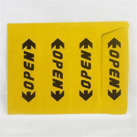 Sticker Mobil Stiker Mobil Open For Car Door stiker reflective pintu mobil open warning door yellow jakartanotebook