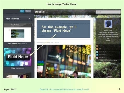 tumblr themes how to how to change tumblr theme