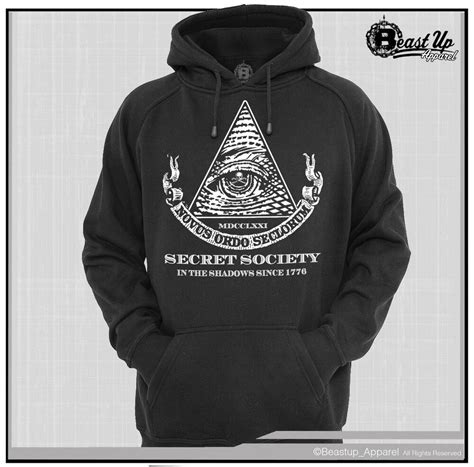 illuminati hoodie secret society illuminati hoodie hoody sweater sizes m