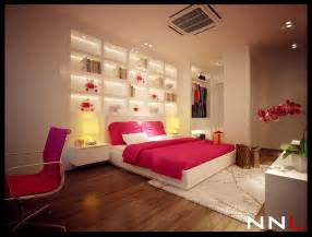 Pink Bedroom Design Pink White Bedroom Interior Design Ideas
