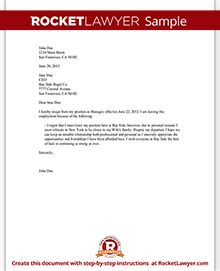 Sle Resignation Letter For You Just Started Letter Of Application Letter Of Resignation For A You
