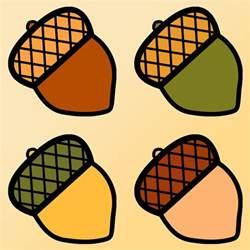 four acorns clip art coloring clipart