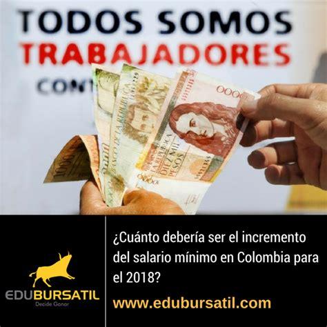 cuanto fue el incremento de salario minimo en 2016 191 cu 225 nto ser 225 el incremento del salario m 237 nimo en colombia