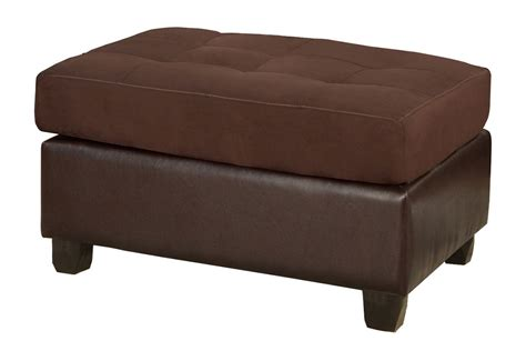 cocktail ottomans cocktail ottoman chocolate microfiber