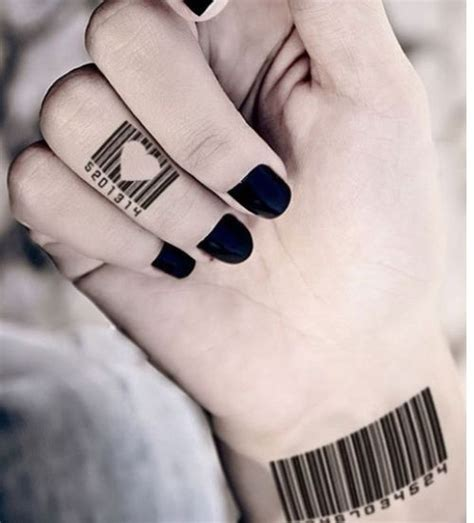 bar tattoos bar code with tattoos we like