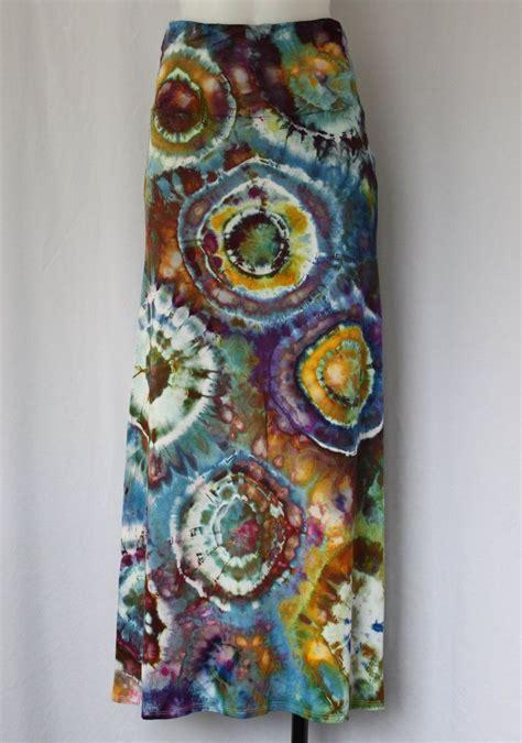tie dye maxi skirt ice dye artshow painting bulls eye
