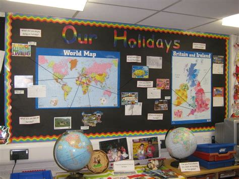classroom themes ks2 our holiday display classroom display class display