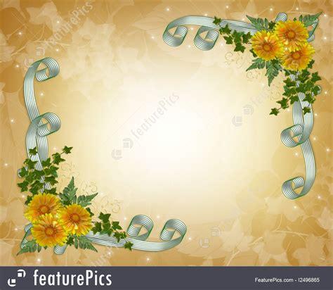Wedding Invitation Background Yellow by Templates Wedding Invitation Yellow Flowers Stock