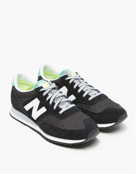 New Balance Black lyst new balance 620 in black and white in black