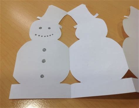How To Make A Snowman Paper Chain - snowman paper chain my kid craft