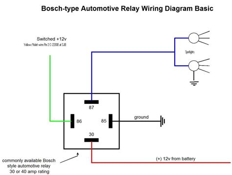 4 pin relay wiring diagram spotlights wiring diagram