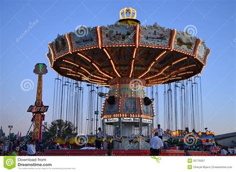 big swing ride fair swing ride editorial photography image of wheel