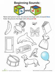 review beginning sounds b and d worksheet education com