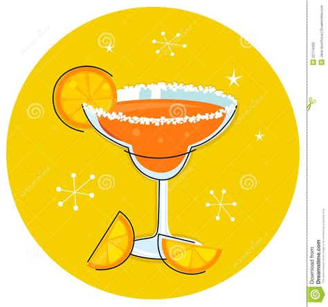 retro cocktail clipart retro drink or cocktail stock photo image