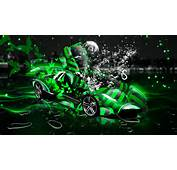 Home Neon Green Car Water Wallpapers