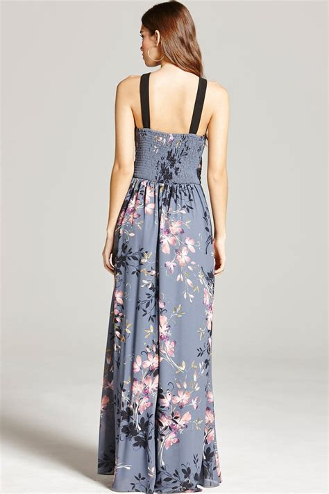 floral print and lace maxi dress from uk