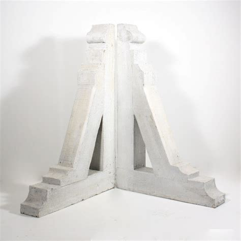 Large Corbels For Sale Large Pair Of Antique Arts Crafts Corbels With White