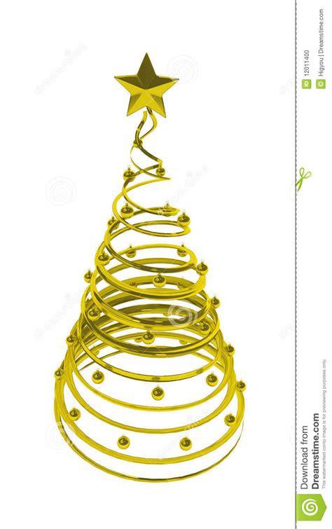 weihnachtsbaum goldene spirale stockfoto bild 12011400