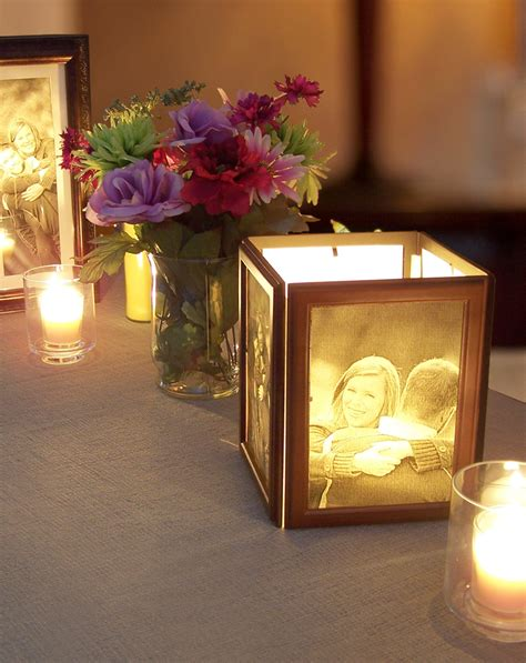how to make photo centerpieces with candles