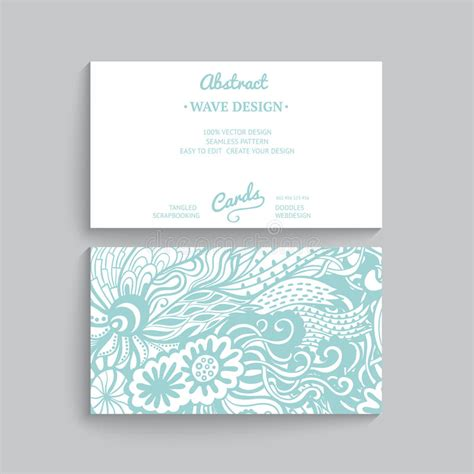 wave business card template free word vector simple business card template with decorative
