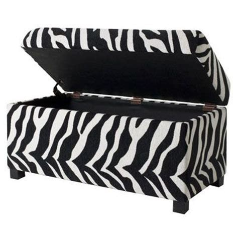 zebra print storage bench storage bins toys and storage boxes on pinterest
