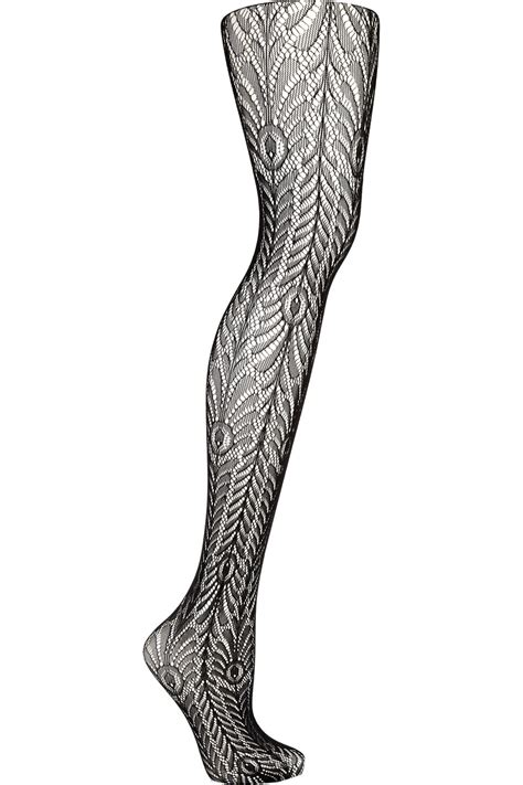 patterned tights blue wolford peacock patterned tights in blue peacock lyst