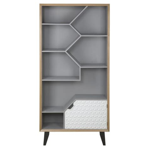 mensole a giorno mobile libreria scaffale design in legno con mensole a