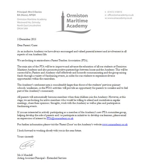 thank you letter to parents from pta pta letters to teachers docoments ojazlink
