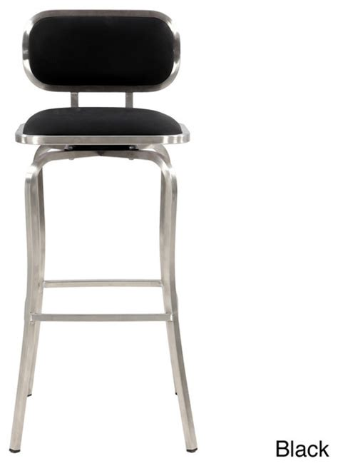 Modern Bar Stools Stainless Steel | modern stainless steel swivel bar stool contemporary