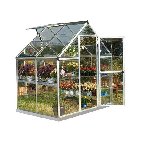 palram harmony 6 ft x 4 ft polycarbonate greenhouse in